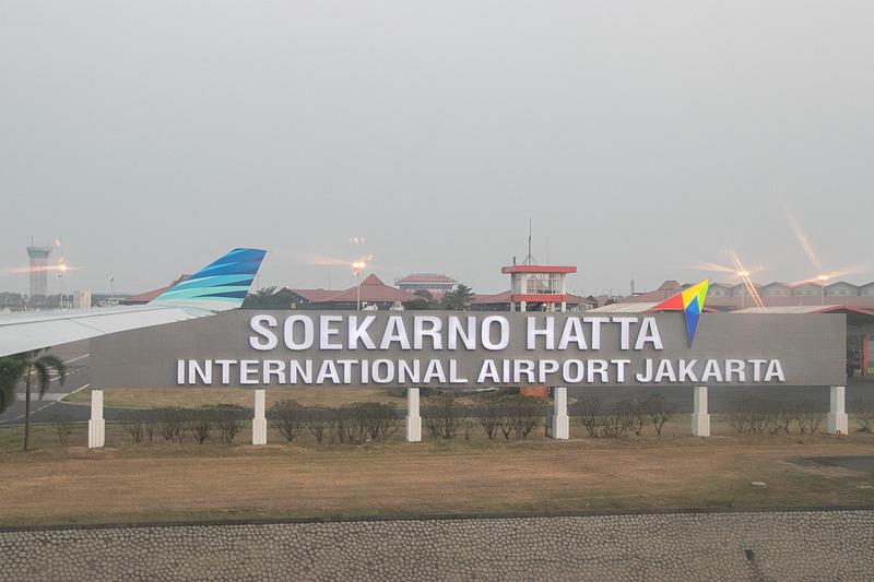 ジャカルタ・スカルノハッタ国際空港へ到着