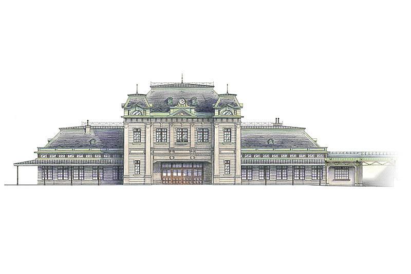 門司港駅復元イメージ