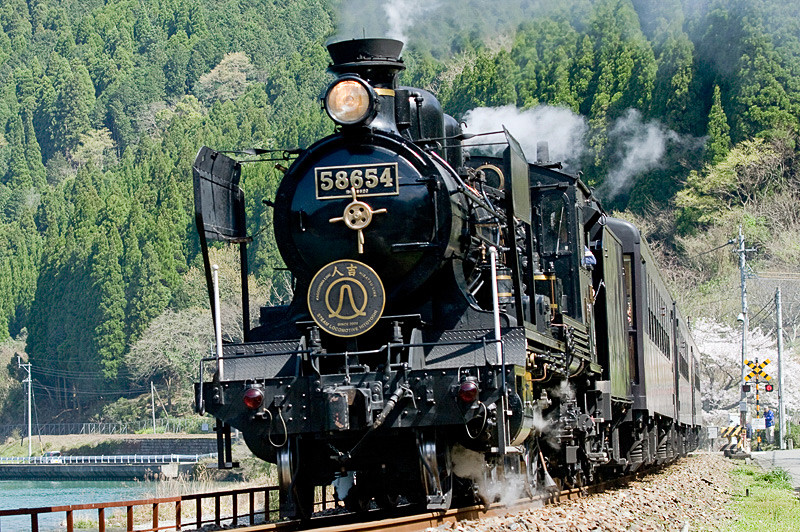 SL人吉に使用している8620形蒸気機関車