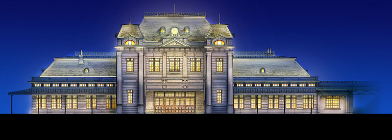 門司港駅ライトアップのイメージ