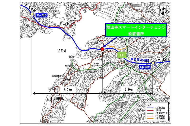 東名高速道路(E1)舘山寺スマートIC