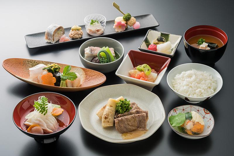 ファーストクラスの和食の一例
