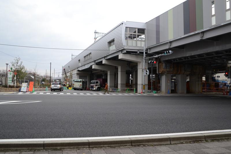七条通り側から見た梅小路京都西駅