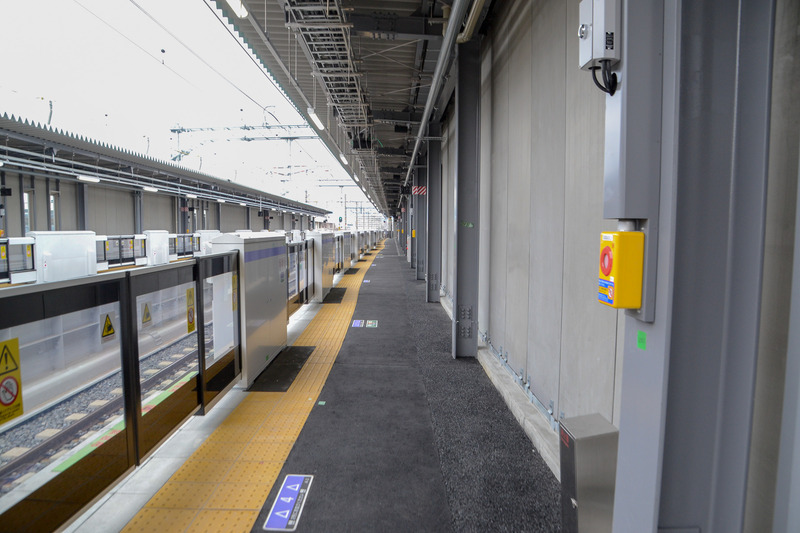 丹波口駅側のホーム幅は3m