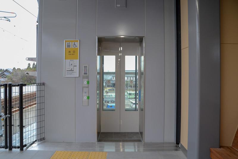 2番線も京都駅側(8両目)にエレベータを設置