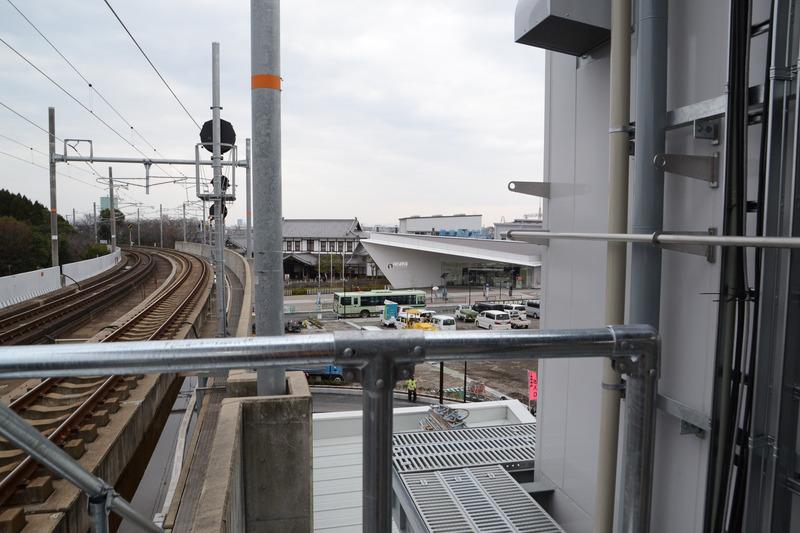 ここからも京都鉄道博物館が見える