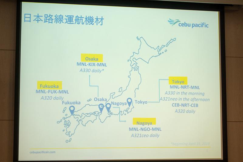 日本路線の機材
