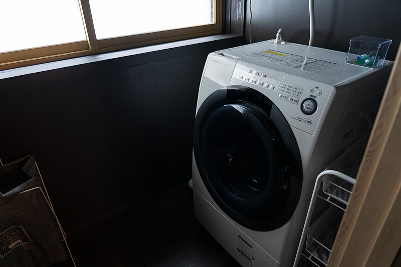 全自動洗濯機付きなので長期滞在に便利