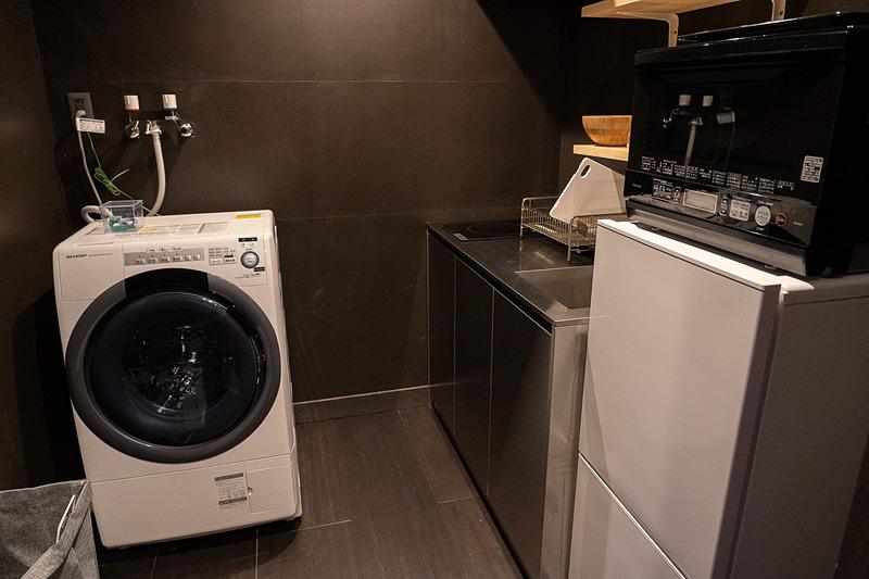 洗濯機、キッチン、バスルーム