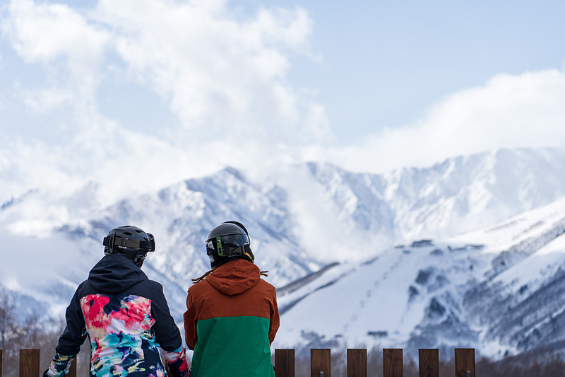 西洋人観光客の姿が多く、ヨーロッパのスキー場に来ているかのようでした