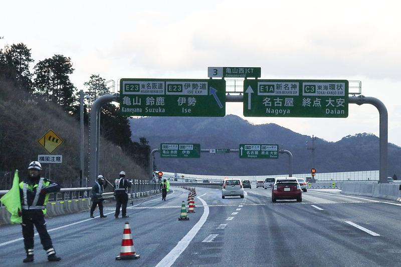 新名神高速道路の亀山西JCT