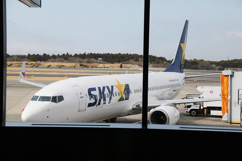 スカイマークは成田国際空港~サイパン国際空港線のチャーター便の運航を開始した