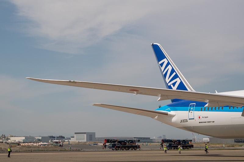 主翼と水平尾翼