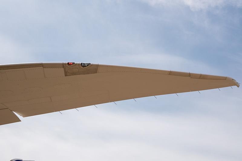 左水平尾翼の翼端