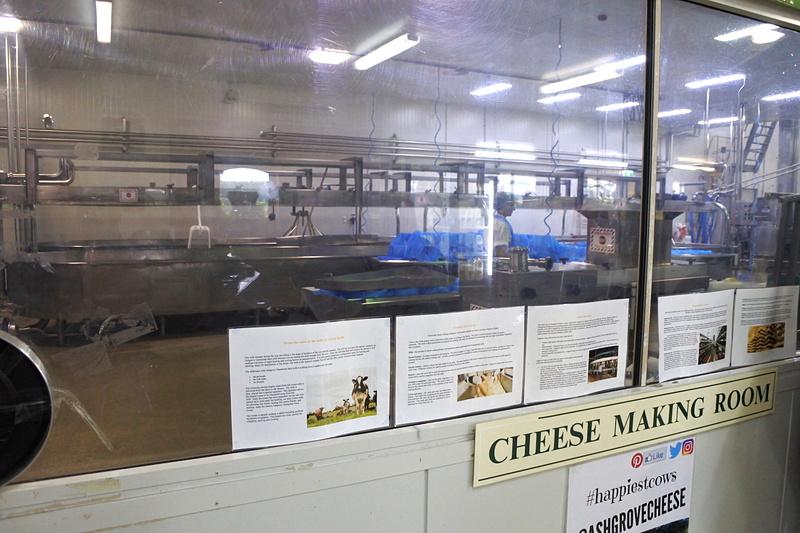 ショップ横のチーズ工場を見学