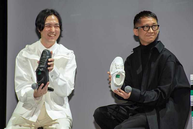 株式会社SIX アートディレクター 矢後直規氏(左)と、ファッションデザイナー 堀内太郎氏(右)