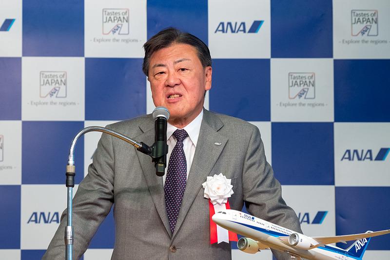 全日本空輸株式会社 代表取締役 副社長執行役員 志岐隆史氏