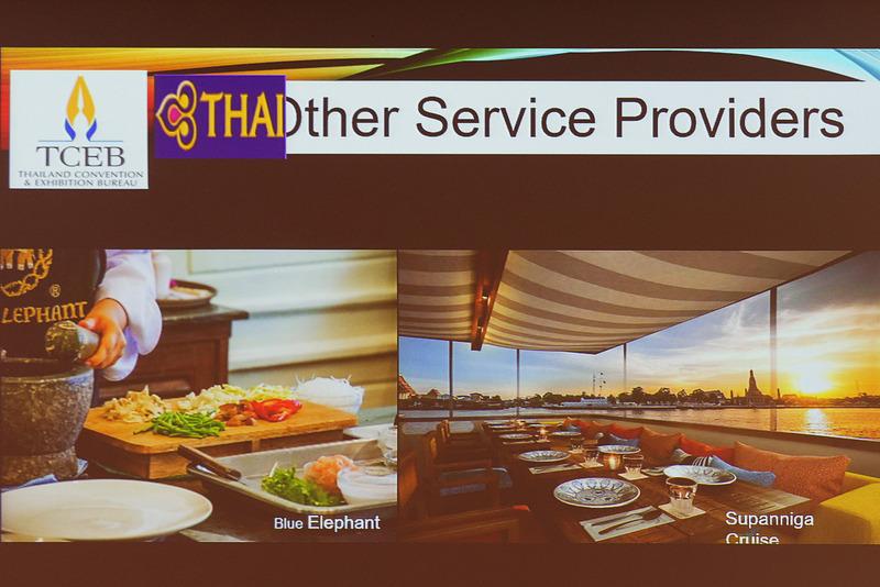 商談会に参加したタイのホテル、リゾート、レストランなどの一部