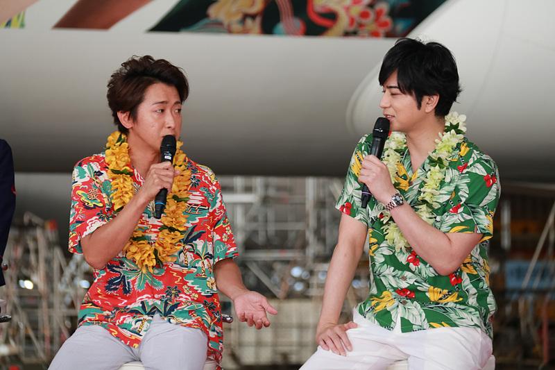 大野智さん、松本潤さんが参加したトークショーの模様