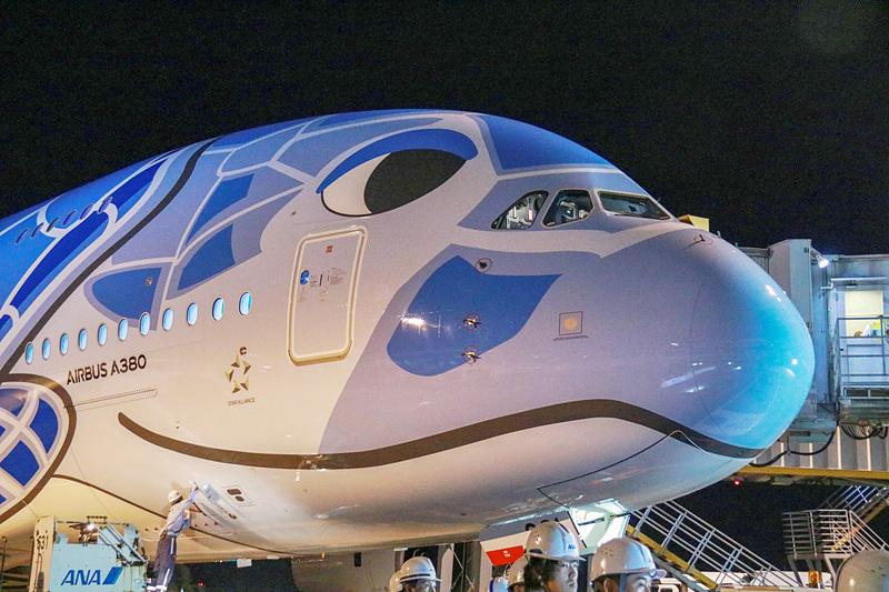 ANAが成田~ホノルル線にA380型機「FLYING HONU」を就航した