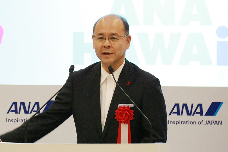 千葉県副知事の滝川伸輔氏は、A380型機の乗り心地とFLYING HONUのカラーリングをほめていた
