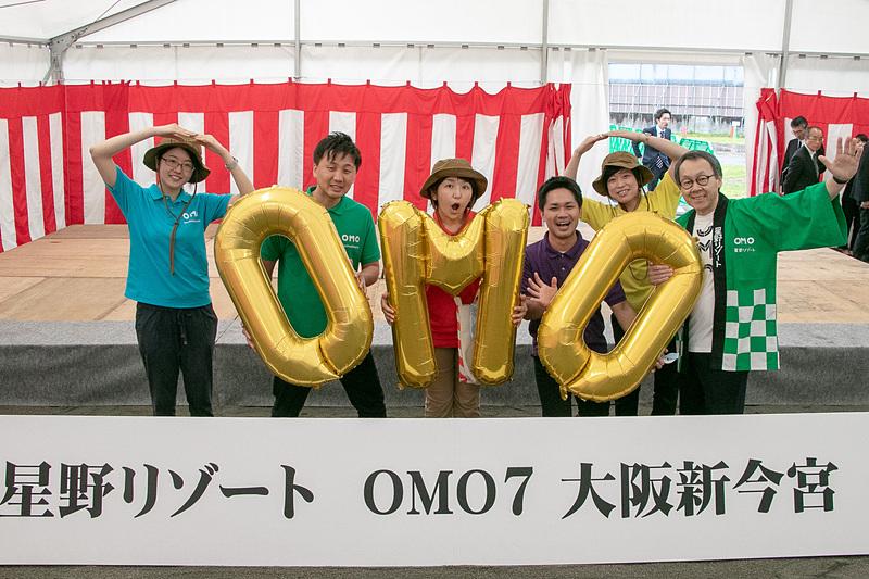 星野リゾートは大阪・新今宮駅前に建設予定の都市観光ホテルについて、施設名を「OMO7 大阪新今宮」とすることを発表し、現地で起工式を行なった