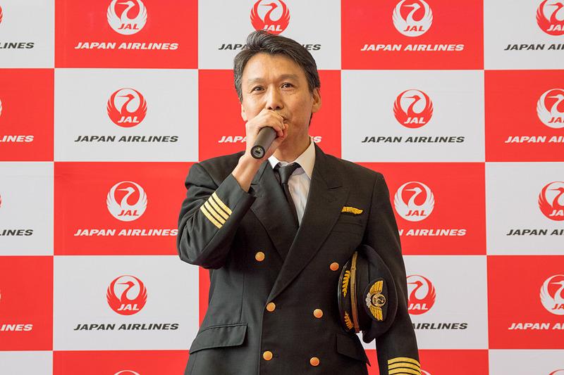 5月28日のJL62便の機長を務める江原泰博氏
