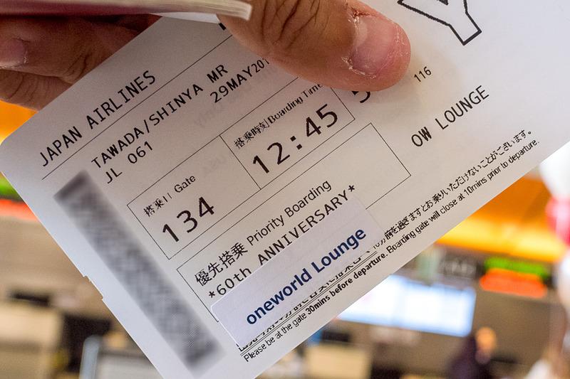 搭乗券の特記事項欄にも「60th ANNIVERSARY」のメッセージ