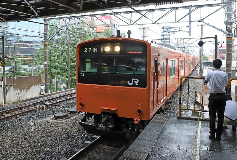 京橋駅には定刻の11時19分に到着した