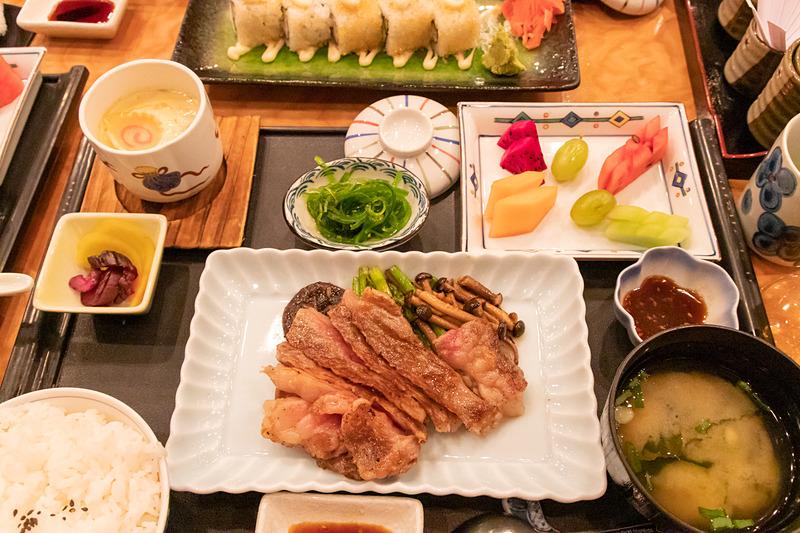 石垣牛を使った和牛ステーキ定食は188香港ドル(2632円)