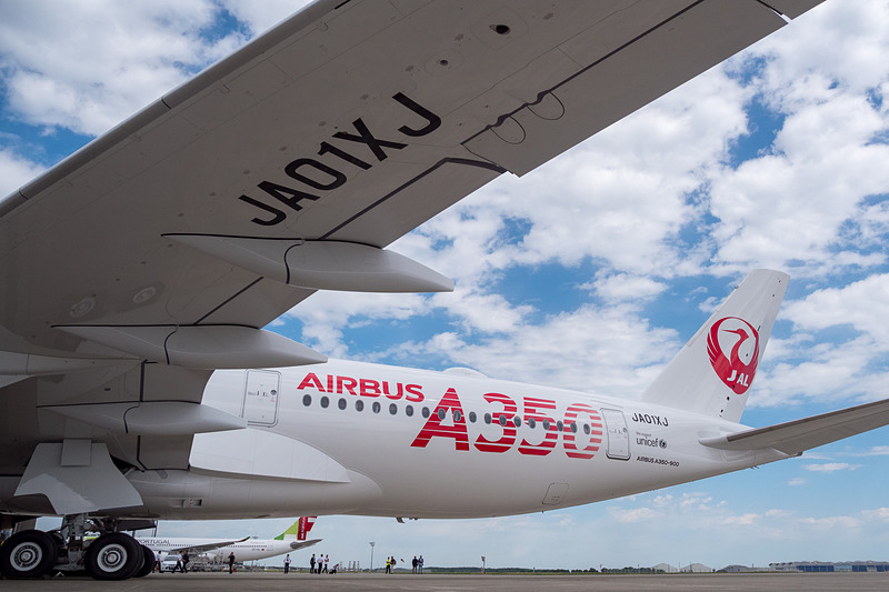 JALのエアバス A350-900初号機「JA01XJ」