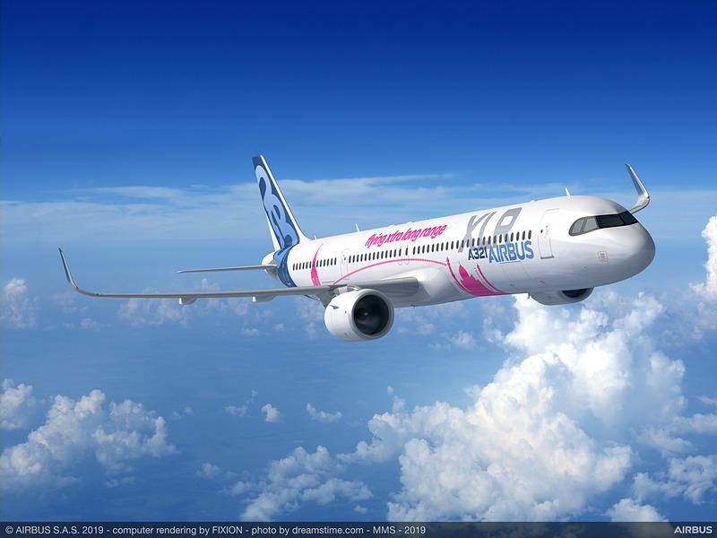 A321XLRの機体イメージ
