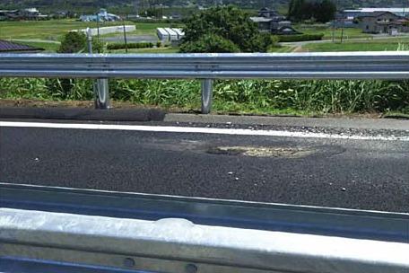 路面の損傷状況