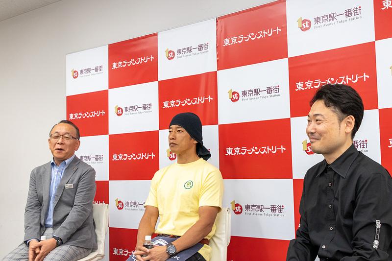 トークセッションの様子。左から佐々木義衛氏、前島司氏、坂井保臣氏