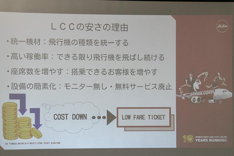 LCCの基本情報。高い稼働率などで低料金を実現している