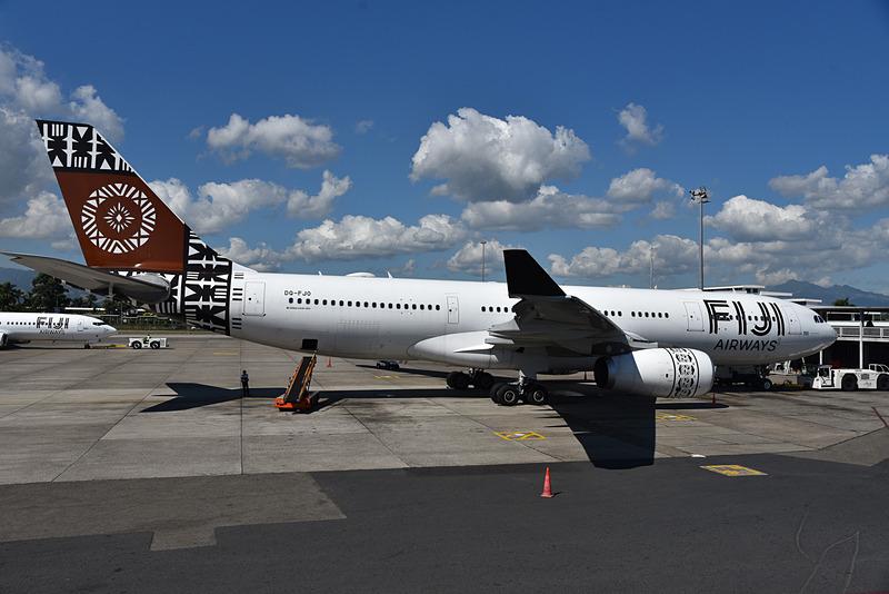 帰国便はFJ351便。機材はエアバス A330-200型機