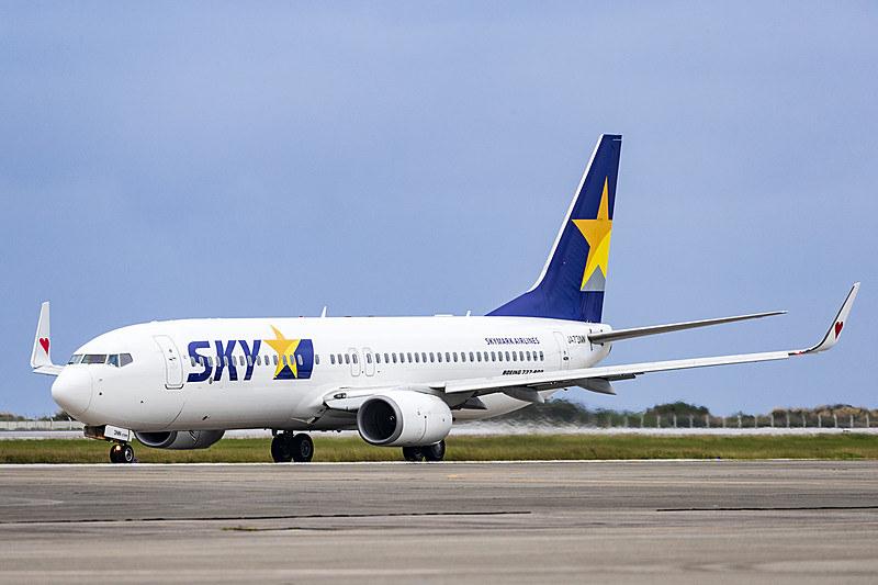 スカイマークは成田国際空港~サイパン国際空港線のチャーター便を運航する