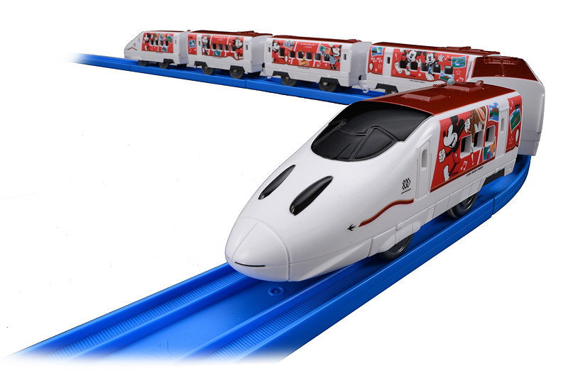 プラレール「JR九州 Waku Waku Trip 新幹線 ミッキーマウス&ミニーマウスデザイン」