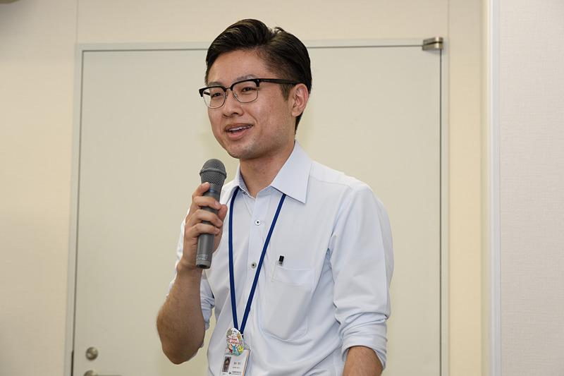 セントレアでイベントを担当した 中部国際空港株式会社 商業事業部 杉山拓大氏。参加者にお礼を述べるとともに、7月20日~21日開催の「セントレア盆踊り」の告知も行なっていた