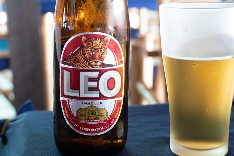 タイで若者に人気のレオビール。薄味のライトビール