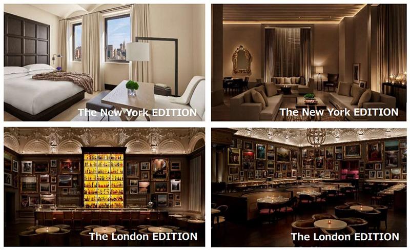 マリオット・インターナショナルの最高級グレードに位置するホテルブランド「EDITION」。現在ニューヨークのマディソンパークとタイムズスクエア、ロンドン、マイアミビーチ、バルセロナ、中国の上海、三亜、アブダビ、トルコのボドルムに展開し、2020年にイタリア・ローマと東京での開業を予定している