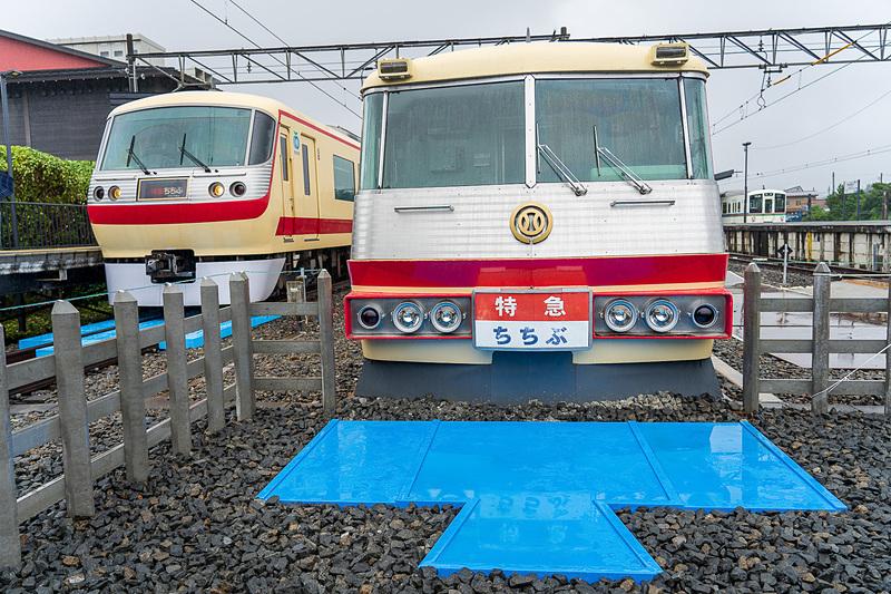 新型ラビューのあと入線してきた特急車両。カラーリングが展示されている5000形と同じでちょっぴり感動!