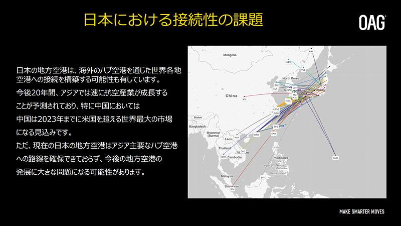 日本の地方空港と近隣国のハブ空港を結ぶ路線の可能性