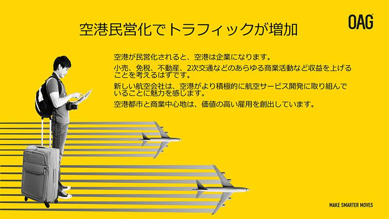 空港の民営化でサービスの品質が向上