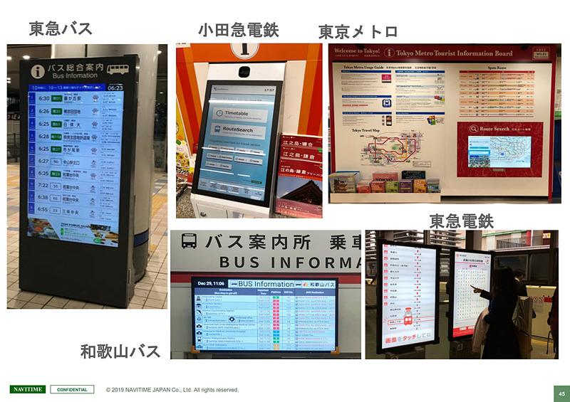 交通や観光の拠点におけるデジタルサイネージの重要性。情報発信のほか、経路探索実績などのデータをもとに課題を抽出してサービスの品質を高めることにもつながる