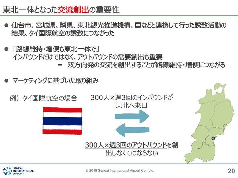 仙台だけでなく東北一体となって双方向の交流人口を創出していく