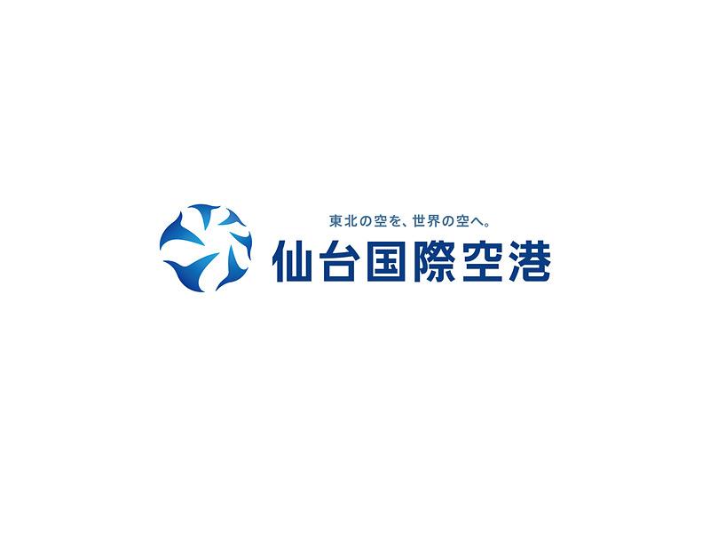 仙台国際空港のロゴマークは、東北6県を表わす6羽の鳥をモチーフにしている