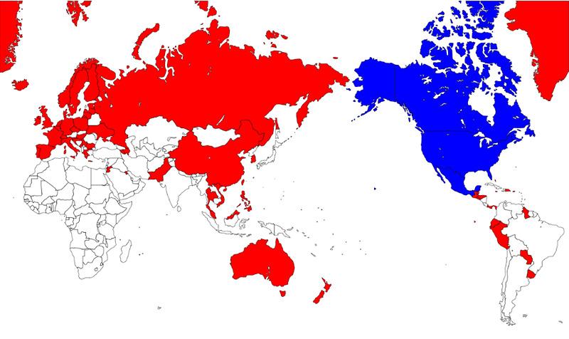 青色が従来のエリア、赤色が新たに利用できるようになったエリア
