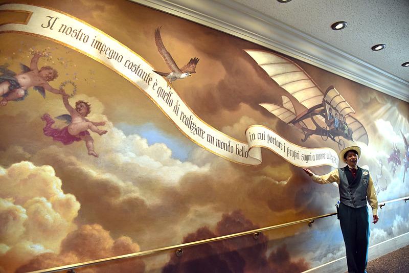 博物館の出口付近には巨大壁画があり、印象的な言葉が綴られていた