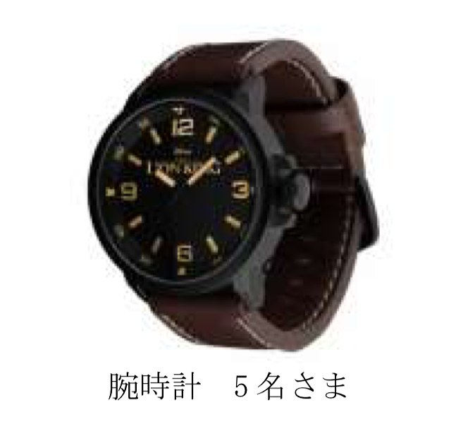 Wチャンス賞腕時計
